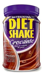 Kit 4 Diet Shake Crocante 400g Vários Sabores - Nutrilatina