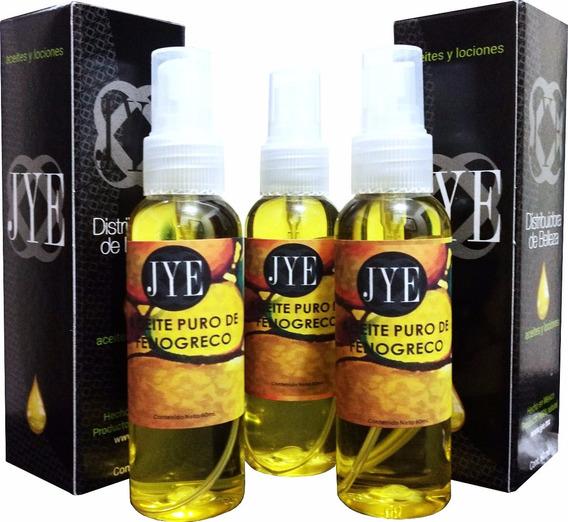 3 Botellas De Aceite Natural Jye Fenogreco Puro 180ml