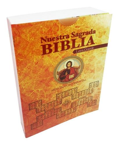 Imagen 1 de 2 de Sagrada Biblia Católica - Misión Continental - Letra Grande