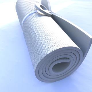 Tapete Eva 1,80m 53cm 10mm Yoga Fitness Cor Exclusiva Prata