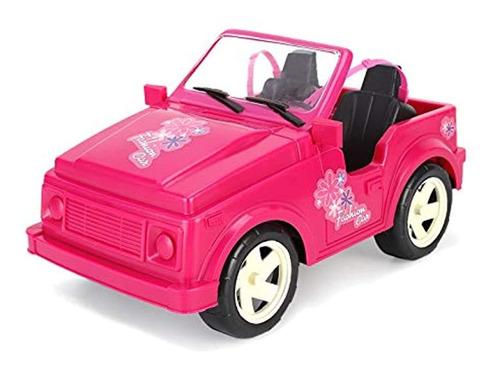 Carro Deportivo Convertible Para Muñecas, Color Rosado