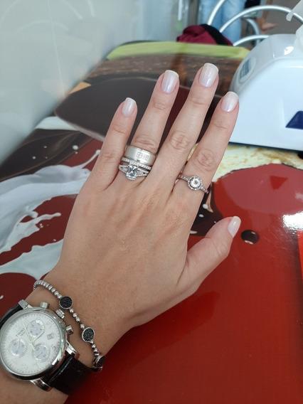 Combo Anéis Ouro Branco Da Tiffany&co, Ucg E Hstern
