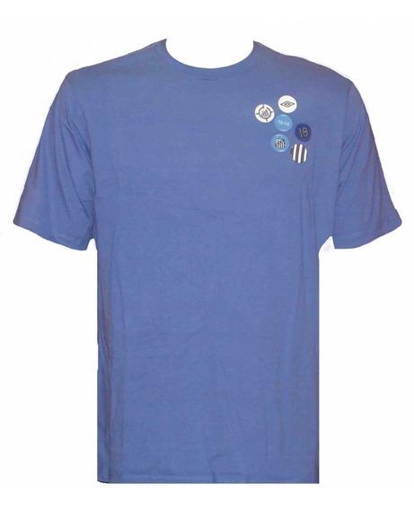 Camisa Santos Umbro Azul 100% Algodão Pronta Entrega