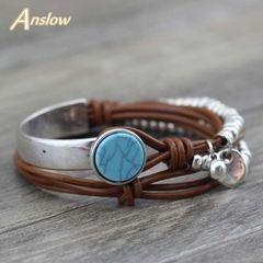 Bracelete Azul Com Penduricalho