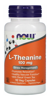 L-theanine Teanina 100 Mg 90cps Now Foods Pronta Entrega