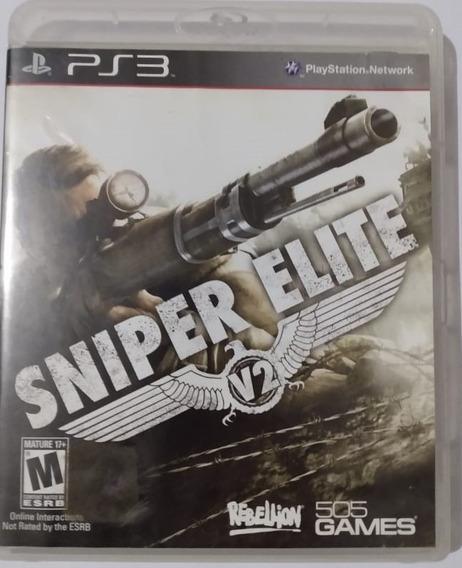 Jogo Midia Fisica Ps3 Sniper Elite V2, Sem Riscos