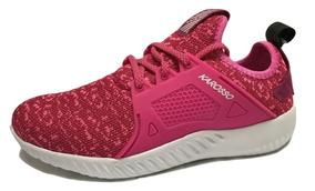 Tenis Mujer Running Karosso 8204 Deportivo Textil Fucsia