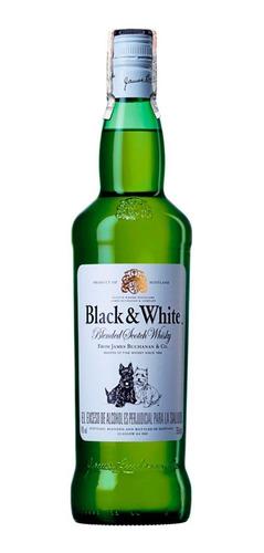 Botella Whisky Black & White Botella 750ml Estampillado 100%