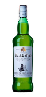 Botella Whisky Black & White Botella 750ml Estampillado 100%