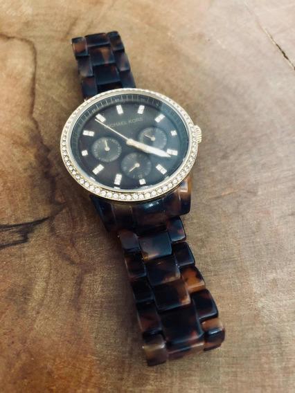 Relógio Michael Kors Tartaruga Original Mk5366 45mm Feminino