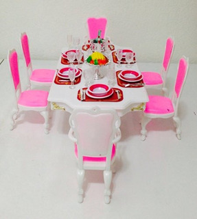 Barbie Size Dollhouse Furnituregrand Dining Ro