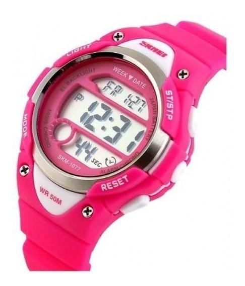 Relógio Infantil Meninas Skmei Original Prova D