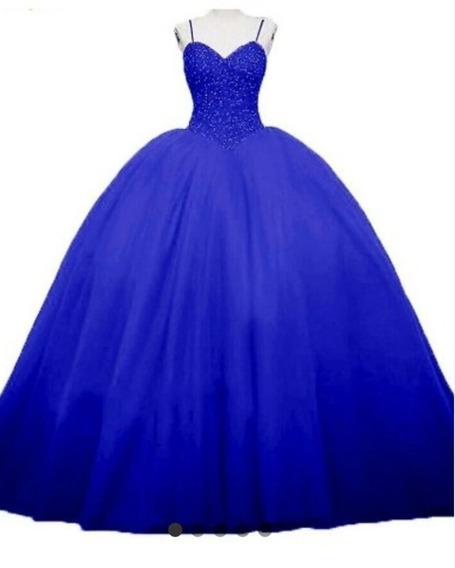 Vestido De 15 Años Disponibles En Azul Y Rojo