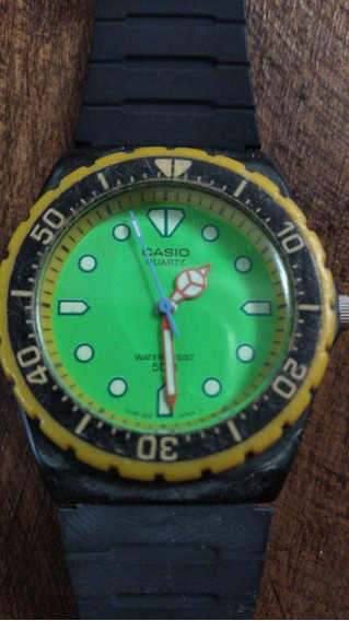 Relógio Casio Mrw 80 50 Metros Fundo Verde