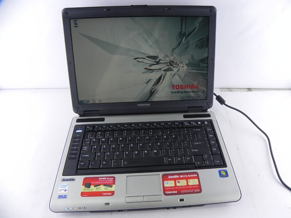 Notebook Antigo Toshiba Satellite M115 Dualc 2gb Ram 250 Hd