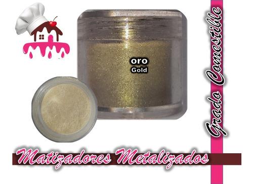Imagen 1 de 4 de Matizadores Comestibles Oro / Gold 5 Gramos Tortasvisochile