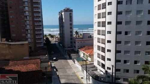 Imagem 1 de 15 de 50 Metros Da Praia ! Com Sacada , 3 Dormitórios E 2 Vagas - St16404