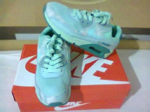 Tenis Nike Air Max 90 Verde Agua Nº37 Original Na Caixa!!!