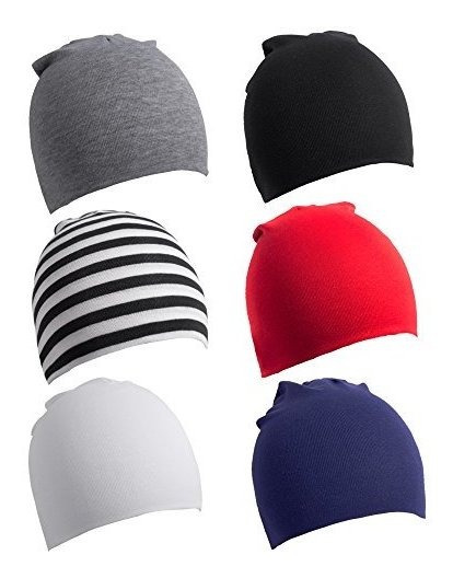 Lotify 6 Pack Toddler Baby Baby Cotton Soft Cute Knit Gorro