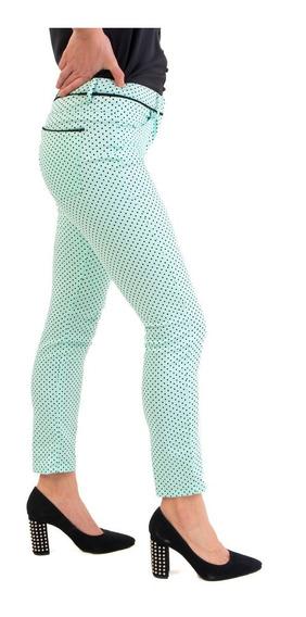 Pantalón Cotton Satén Estampado De Mia Loreto Modelo Drago