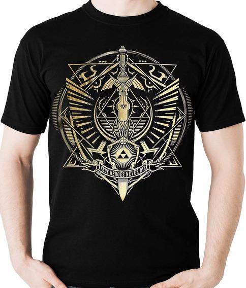 Camiseta Link Legends Of Zelda Triforce Game Camisa Blusa