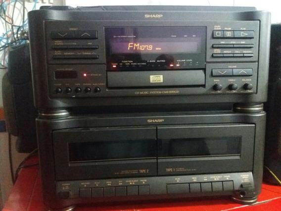 Cd Music System Cms- R70cd Sharp Sem Caixas E Sem Agulha