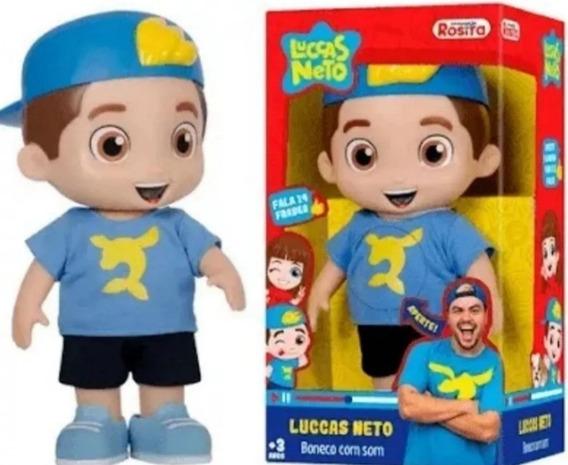 Boneco Luccas Neto Fala 14 Flases (promoção Relâmpago)