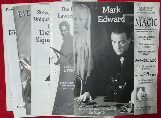 Catálogos Stevens Magic Emporium - Lote Com 7 Unidades