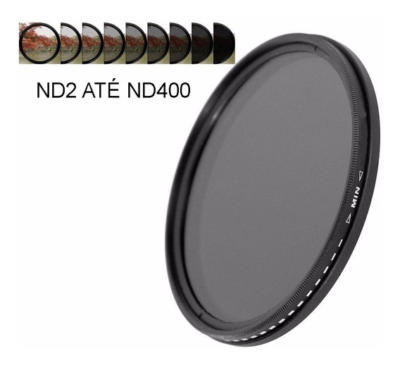 Filtro Densidade Neutra Variável (fader) 77mm Nd2 Até Nd400