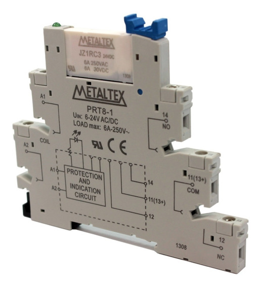Interface A Relé Metaltex, Modelo Prz-1r-24 Cx C/ 10peças
