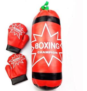 Kit Luva De Boxe Com Saco De Pancadas Para Crianças Infantil
