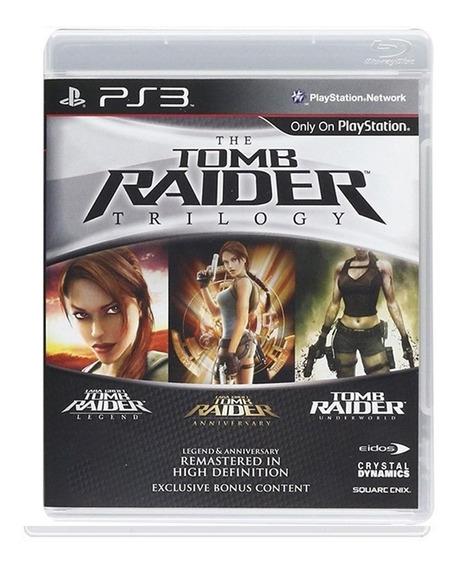 Jogo The Tomb Raider Trilogy - Original - Ps3 - Física Usado