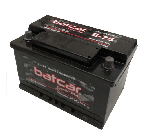 Imagen 1 de 9 de Bateria Batcar 12x75 B75 Larga Blindada Libre Mantenimiento