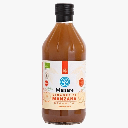 Vinagre De Manzana 100% Orgánico 500ml. Agronewen