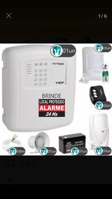 Kit De Alarme Residêncial Discador, 6 Sensores Inter E Ext