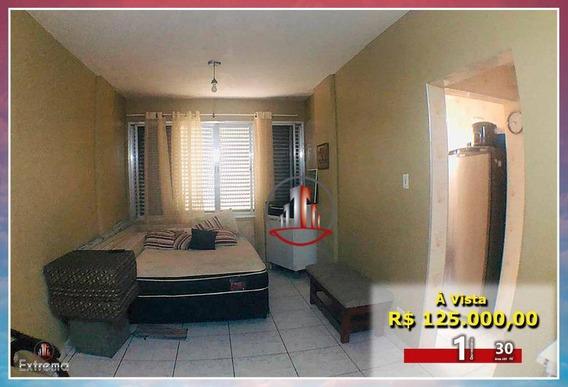 Kitnet Com 1 Dormitório À Venda, 30 M² Por R$ 125.000,00 - Vila Guilhermina - Praia Grande/sp - Kn0239