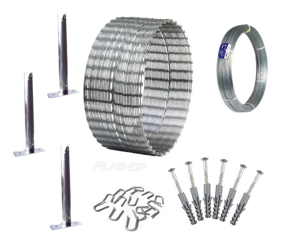 Kit Concertina Para Muro Perimetral Cerca Ouriço C10m 0,30mm