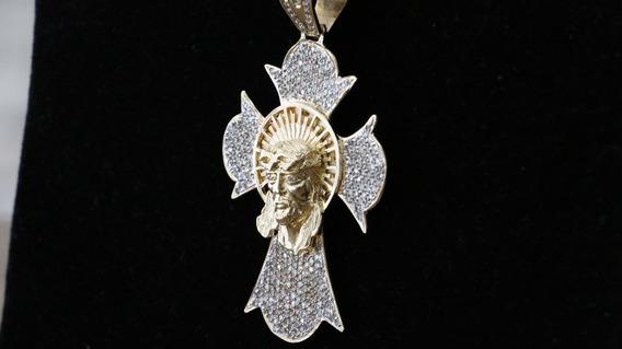 Crucifixo De Ouro Com Corrente