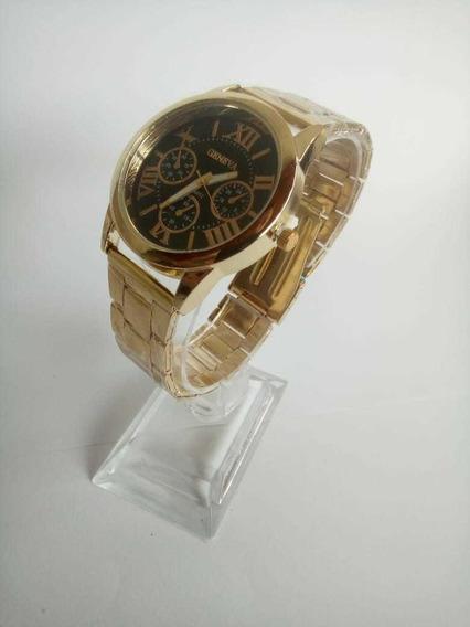 Relógio Luxo Aço Analógico