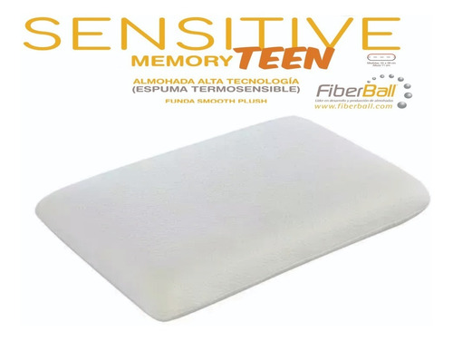 Almohada Viscoelastica Inteligente Sensitive Teen Con Funda