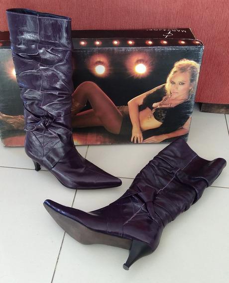 Botas Caña Alta Color Violeta - Mary & Joe