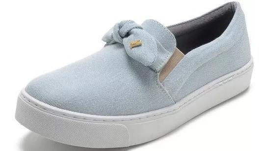 Slip On Feminino Santa Lolla Jeans Azul Claro