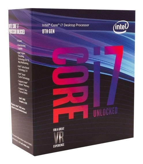 Processador Intel Core I7-8700k 12mb 3.7 - 4.7ghz Lga 1151