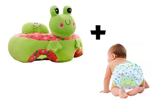 Sillón Bebé Soporte Aprende Sentarse +pañal Ecológico Regalo