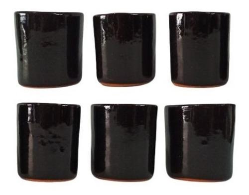 Imagen 1 de 6 de Juego De 6 Vasos Shot De Negro