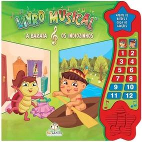 Livro Musical A Barata E Os Indiozinhos