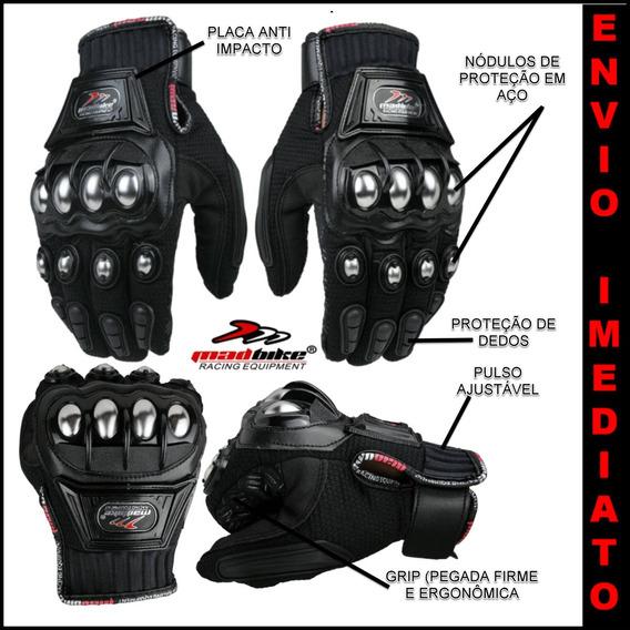 Luvas Moto Motoqueiro Motocross Motociclista Bike Pró