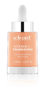 Base Fluida Idraet Vitamina C 30ml Mas Brocha De Regalo Maqu