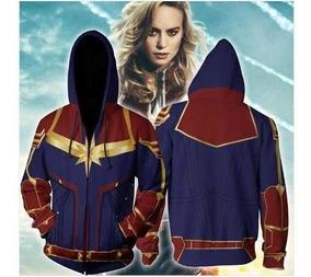 Blusa Moletom 3d - Capitã Marvel