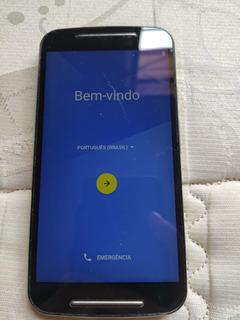 Celular Motorola G2 Xt1078 4g, 16gb, Dual Chip Preto - Usado